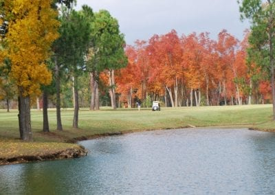 Fall Golf Course with a Water View