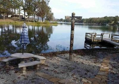 Back Yard Lake with Private Dock and Seating
