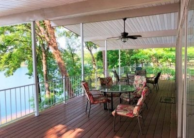 Large Covered Deck Overlooking the Lake