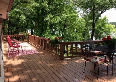 Large Outdoor Deck on the Lake