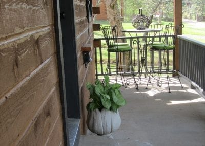 Front Porch with Small Table and Chairs